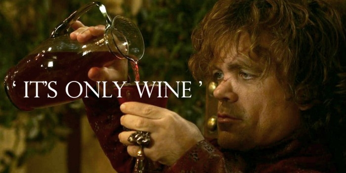 tyrion and wine